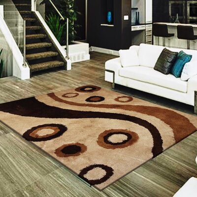 Straley Hand-Woven Beige/Brown Area Rug