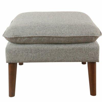 Glamis Medium Ottoman Upholstery: Light Gray