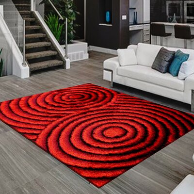 Mcgill Design Hand-Woven Red Area Rug