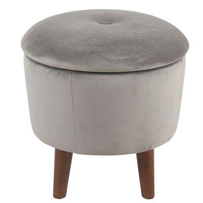 Crew Park Modern Round Storage Ottoman Upholstery: Gray