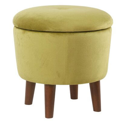 Crew Park Modern Round Storage Ottoman Upholstery: Green