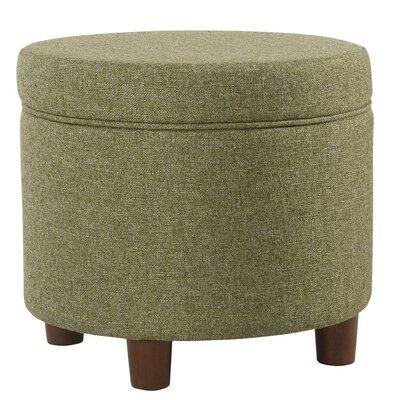 Hazeltine Round Storage Ottoman Upholstery: Green
