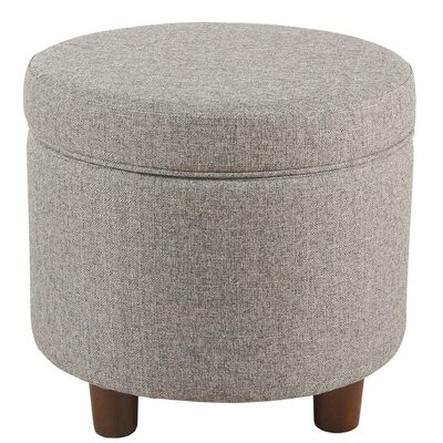 Hazeltine Round Storage Ottoman Upholstery: Light Gray