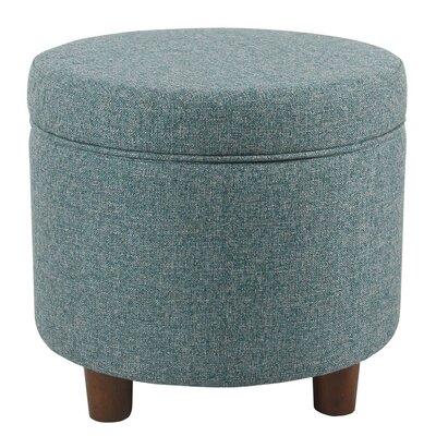 Hazeltine Round Storage Ottoman Upholstery: Teal