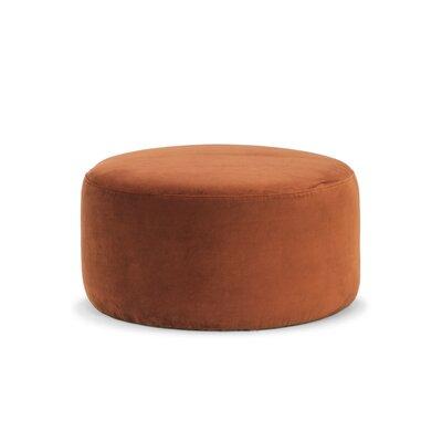 Cragin Pouf Upholstery: Rust Velvet