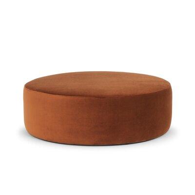 Craighead Pouf Upholstery: Rust Velvet