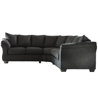 Mancha Sectional Upholstery: Black