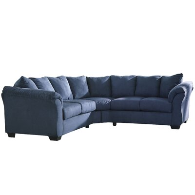 Mancha Sectional Upholstery: Blue