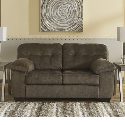 Mccreery Loveseat Upholstery: Brown