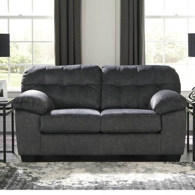 Mccreery Loveseat Upholstery: Gray