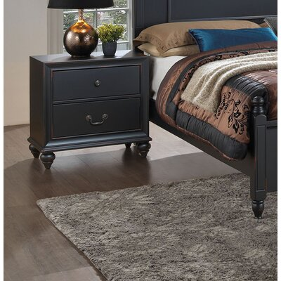 Jacobson 2 Drawer Nightstand