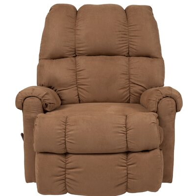 Eberly Manual Rocker Recliner Upholstery: Camel