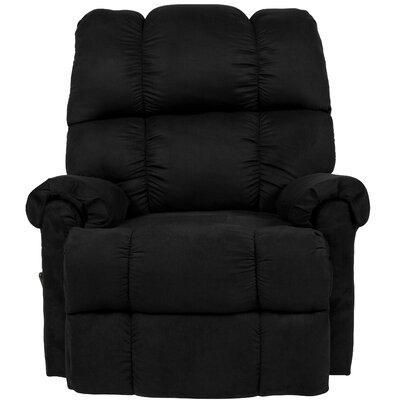 Eberly Manual Rocker Recliner Upholstery: Black