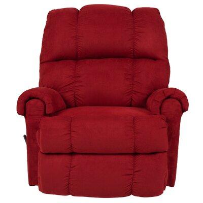 Eberly Manual Rocker Recliner Upholstery: Cardinal