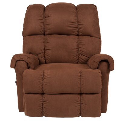 Eberly Manual Rocker Recliner Upholstery: Chocolate