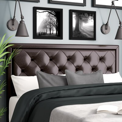 Caddo Upholstered Panel Headboard Size: Queen