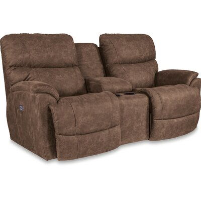 Trouper Reclining Loveseat with Console Recliner Mechanism: Power