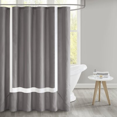 Faria Shower Curtain Color: Gray