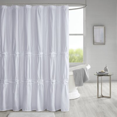 Tyntesfield Solid Shower Curtain Color: White