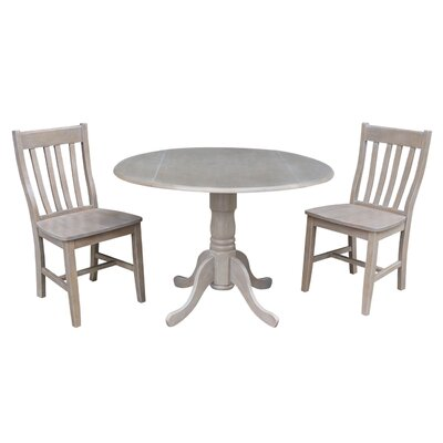 Harrel Dual Drop Leaf 3 Piece Dining Set