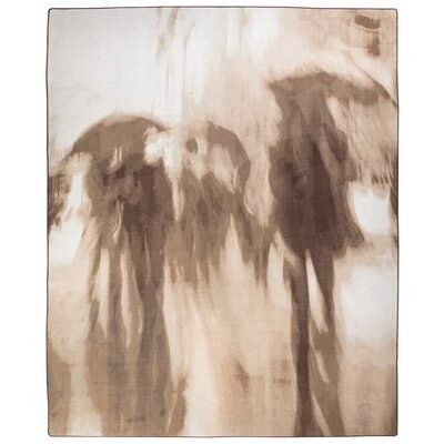 Maldanado Rainy Day Stroll Sepia Tan Area Rug Rug Size: Rectange 109 x 132