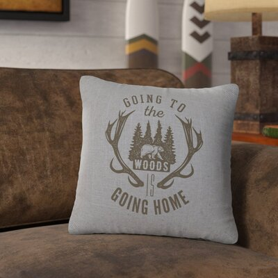 Neale Going to the Woods Throw Pillow Color: Gray