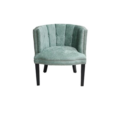 Holzer Barrel Chair Upholstery: Turquoise
