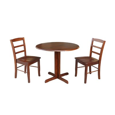 Ingrassia Dual Drop Leaf 3 Piece Dining Set