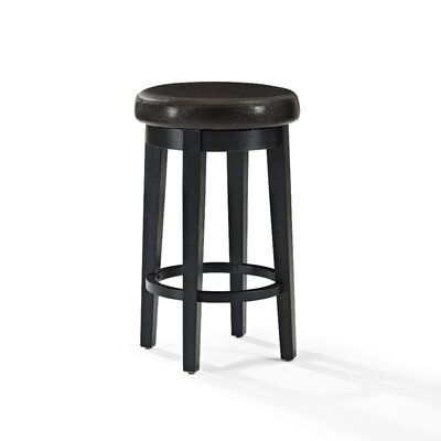 Hiltner 26.25 Swivel Bar Stool Upholstery: Brown