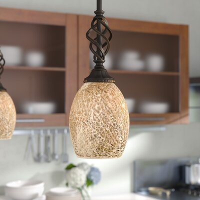 Pierro 1-Light Mini Pendant Shade Color: Natural
