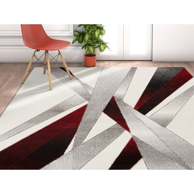Herring Red Area Rug Rug Size: Runner 2 x 7