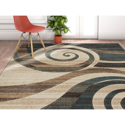 Herring Whirlwind Mint Area Rug Rug Size: Rectangle 2 x 3