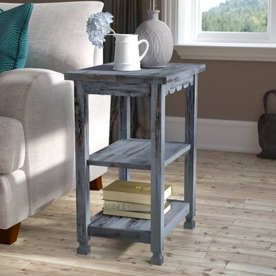 Mangum 2 Shelf End Table Color: Blue
