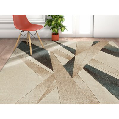 Herring Mint Area Rug Rug Size: Rectangle 53 x 73