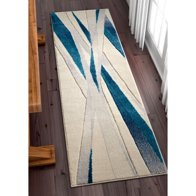 Herring Blue Area Rug Rug Size: Runner 2 x 7