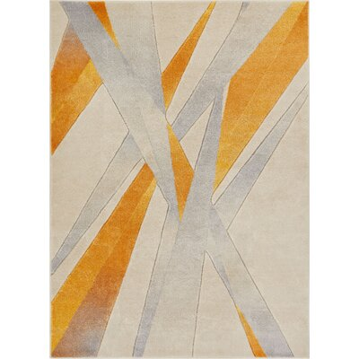 Herring Yellow Area Rug Rug Size: Rectangle 311 x 53