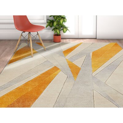 Herring Yellow Area Rug Rug Size: Rectangle 53 x 73