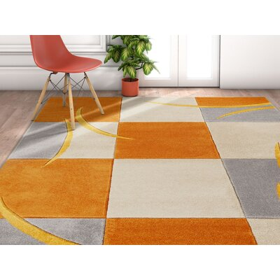 Herring Orange Area Rug Rug Size: Rectangle 2 x 3