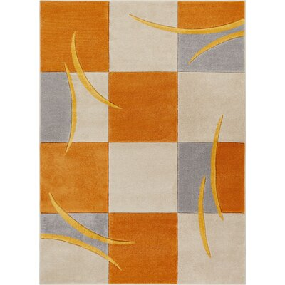 Herring Orange Area Rug Rug Size: Rectangle 710 x 910