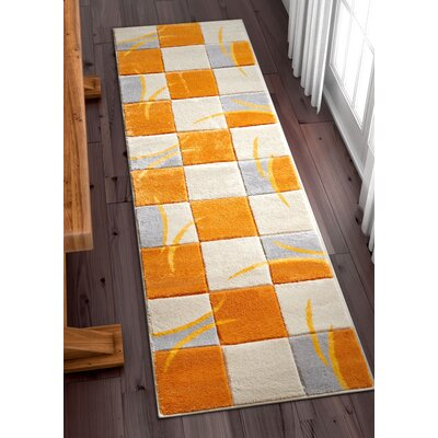 Herring Orange Area Rug Rug Size: Runner 2 x 7
