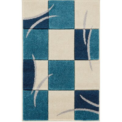 Herring Blue Area Rug Rug Size: Rectangle 2 x 3