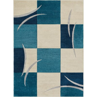 Herring Blue Area Rug Rug Size: Rectangle 53 x 73