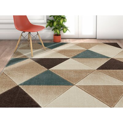 Herring Brown Area Area Rug Rug Size: Rectangle 53 x 73