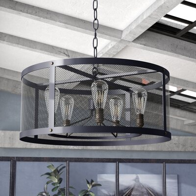 Juniper 5-Light Drum Chandelier Bulb Type: MB ST64