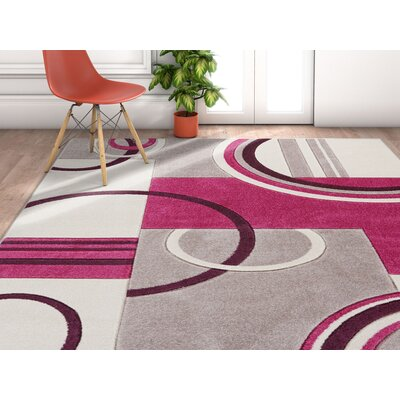 Herring Galaxy Waves Purple Area Rug Rug Size: Rectangle 53 x 73