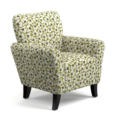 Hardt Armchair Upholstery: Green Modern Floral
