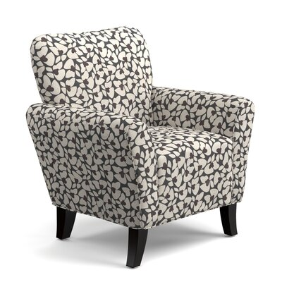 Hardt Armchair Upholstery: Charcoal Modern Floral