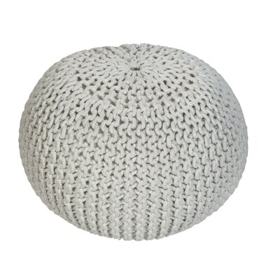 Emory Pouf Upholstery: White