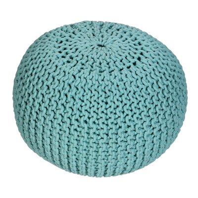 Emory Pouf Upholstery: Aqua