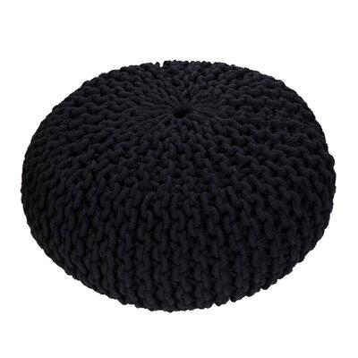 Alvina Pouf Upholstery: Black